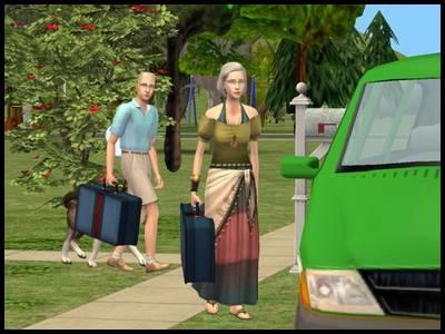 rococo coralie marco départ vacances valises taxi