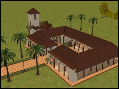 sims 2 veronaville ranch monty style italien mediterranéen