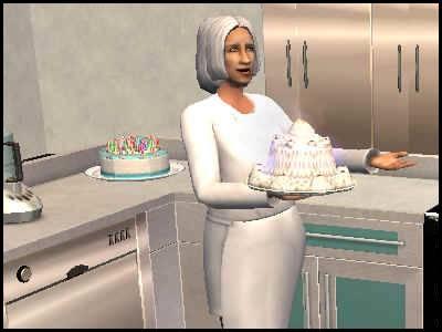 sims 2 veronaville isabella monty matriarche cuisine gâteau