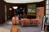 Salon avec un espace lecture