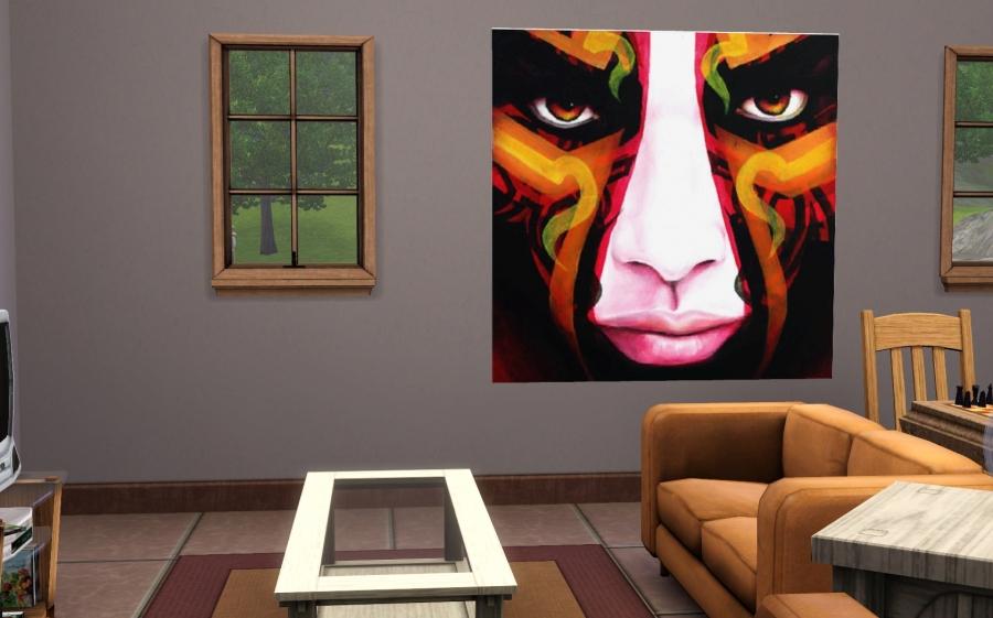 Dans le salon de mon sims :)