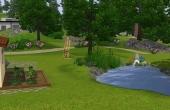 Jardin potager et petit étang
