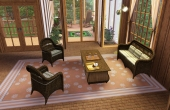 Premier étage, petit salon devant la véranda