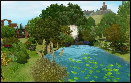 L'étang et la cascade