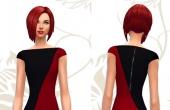 Robe rouge et noir avec fermeture eclair simple