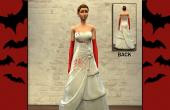 Robe de mariée avec sang