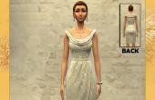 Robe argent�e femme