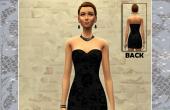 Robe noire sans manches femme