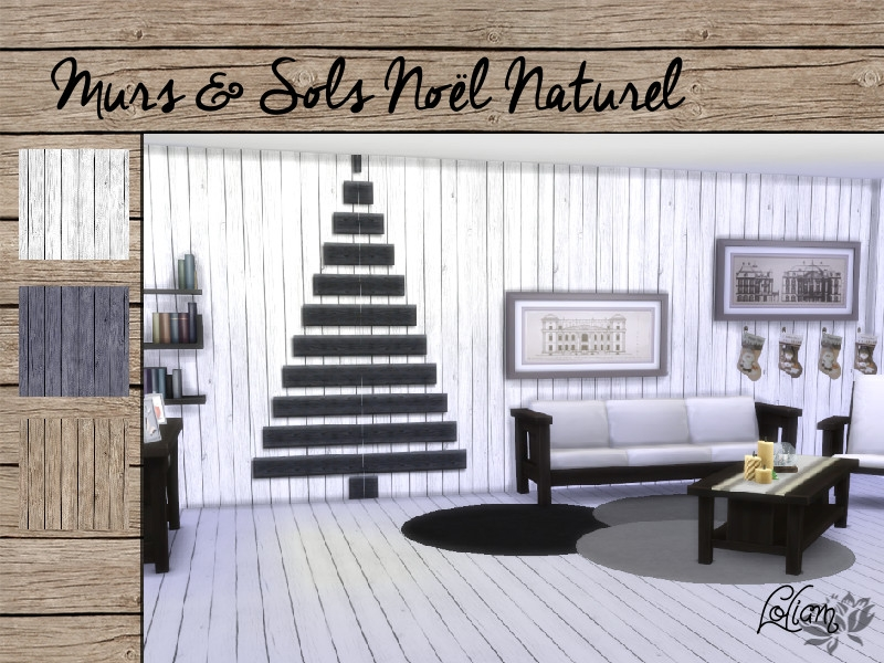 set murs et sols no l naturel. Black Bedroom Furniture Sets. Home Design Ideas
