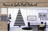 Set Murs et sols Noël Naturel - 2
