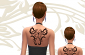 Animals Tattoo Tribal - Papillon
