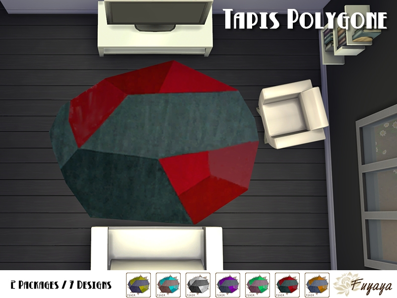 Tapis polygone vue du plafond