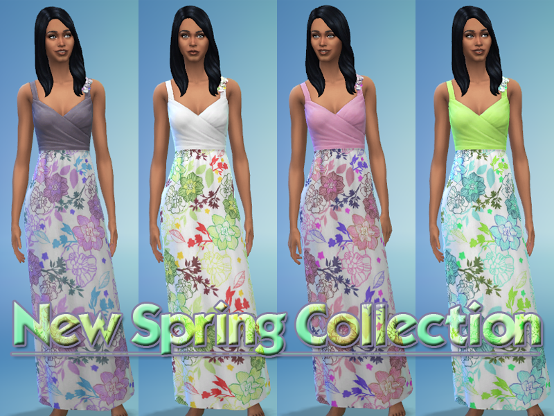 new spring collection robe fleurie pouss