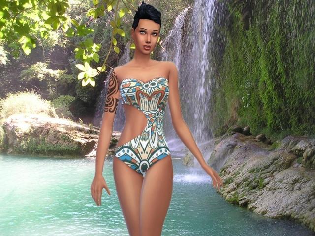 Sims 4 Swinsweat Maillot de bain Curve 1