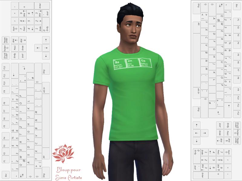 sims 4 recoloration t shirt geek bazinga