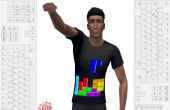 sims 4 recoloration t shirt geek tetris