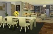 L'Oustallette Rez de chaussée la cuisine et la salle à manger
