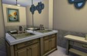 L'oustallette la salle de bain de la suite parentale au rez de chaussée
