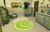L'oustallette chambre verte premier etage