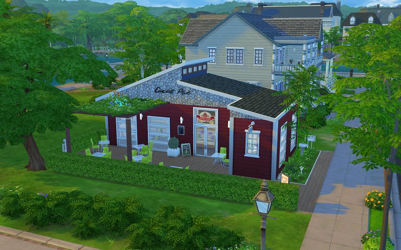Vue de bar à Cupcake