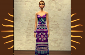 Robe Ethnique Violette