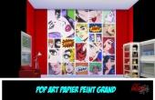 Pop Art Couleur Murs grand Unis Rouge et Noir