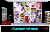 Pop Art Couleur Murs Moyens