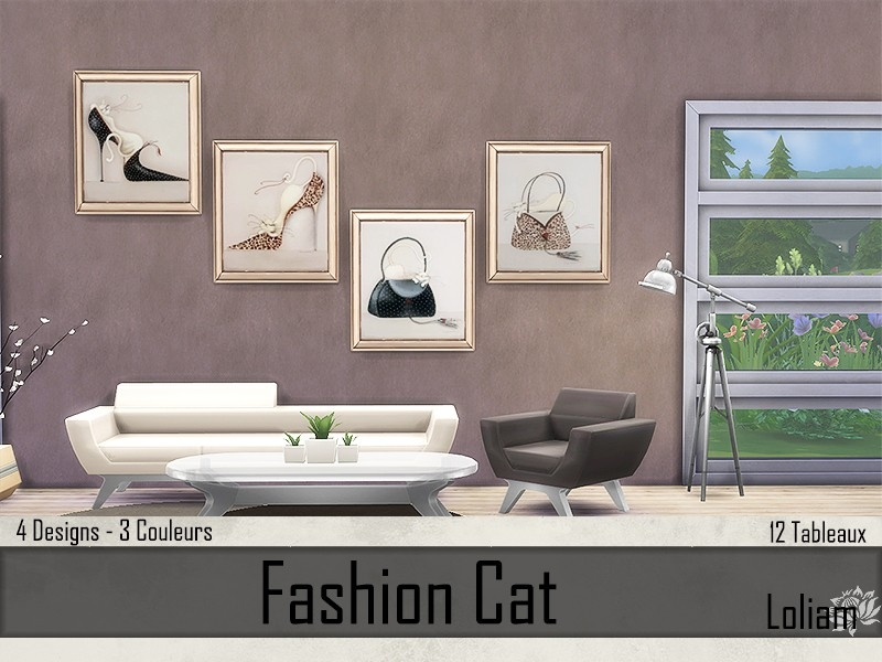 Fashion Cat Cadres beiges