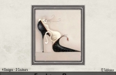 Gros plan Chat et chaussure noire