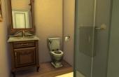 Petite salle de bain de la chambre d'amis