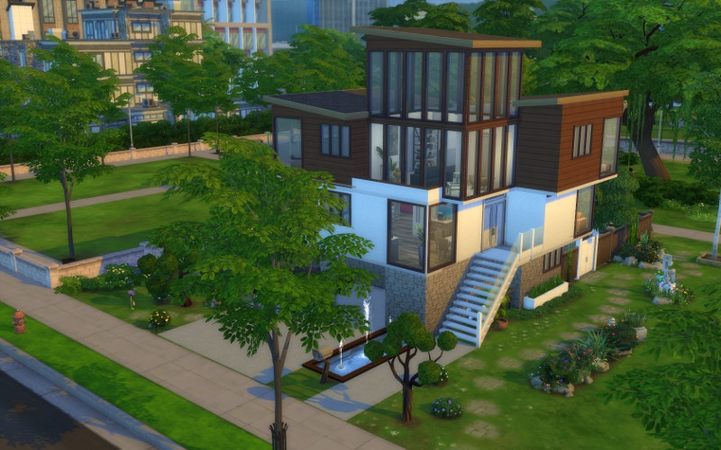 Loft belle vue for Exterieur sims 4