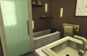 Deuxième étage : salle de bain parentale