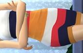 Robe bandeau multicolore