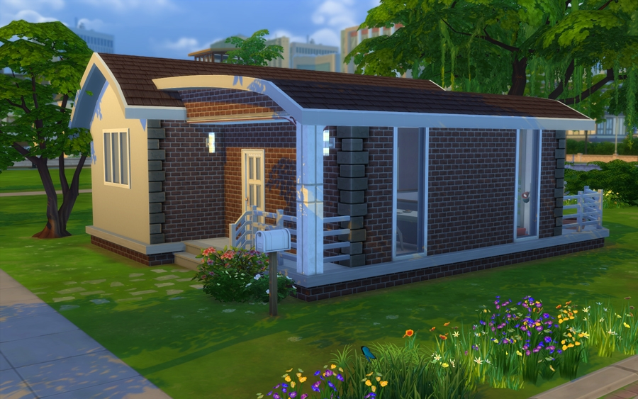 Starter brique immobilier maison for Decoration maison sims 4