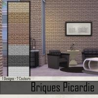 Briques Picardie  Marron Fonc�