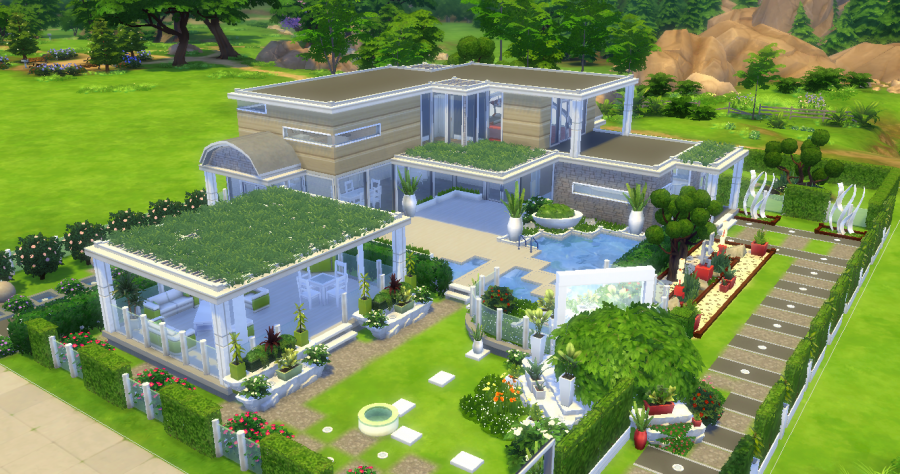 Maison graphique moderne sims 4 - Jeu de creation de maison ...