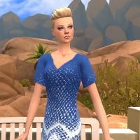 robe robinson bleue