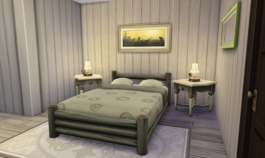 Sims 4 chalet maison hiver for Taille chambre parentale