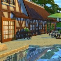 Arrière et piscine de l'Alsacienne