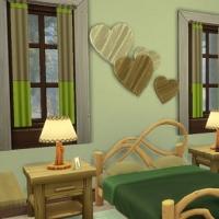 Grand chalet du lac Chambre verte 1