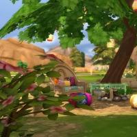 L'hacienda vue du jardin arrière 1