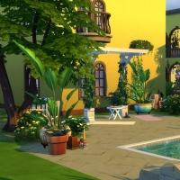 L'hacienda vue du jardin arrière 2