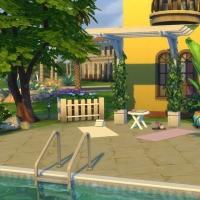L'hacienda vue du jardin arrière 3