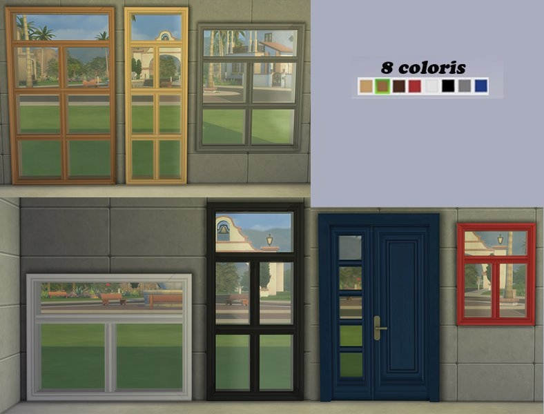 Sims 4 Porte Fenetre Cc Door Window