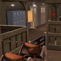 Haras Normand  Intérieur de l'écurie - les stalles