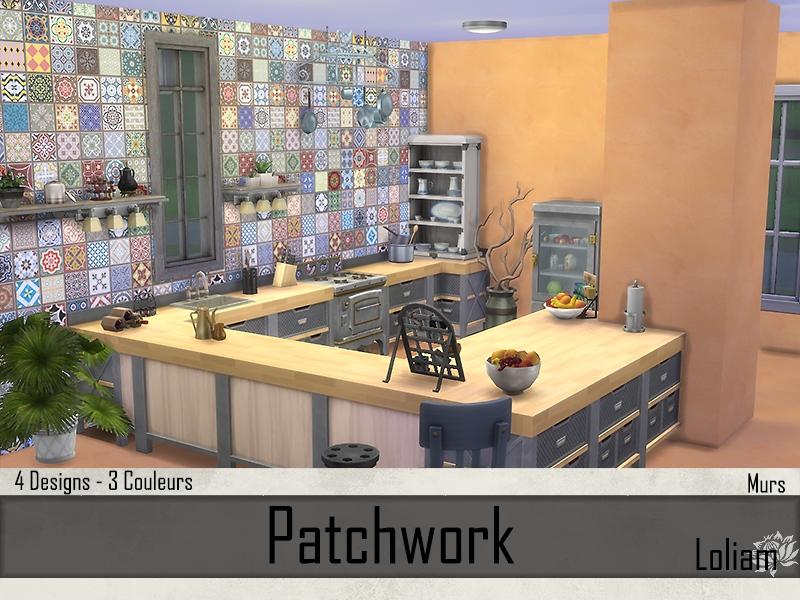 Murs Abricot et Patchwork