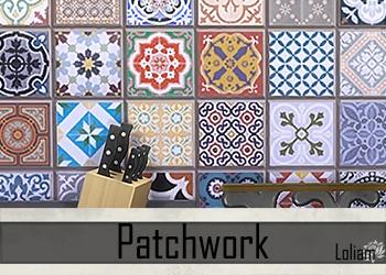 """Set  murs et sols """"Patchwork"""""""