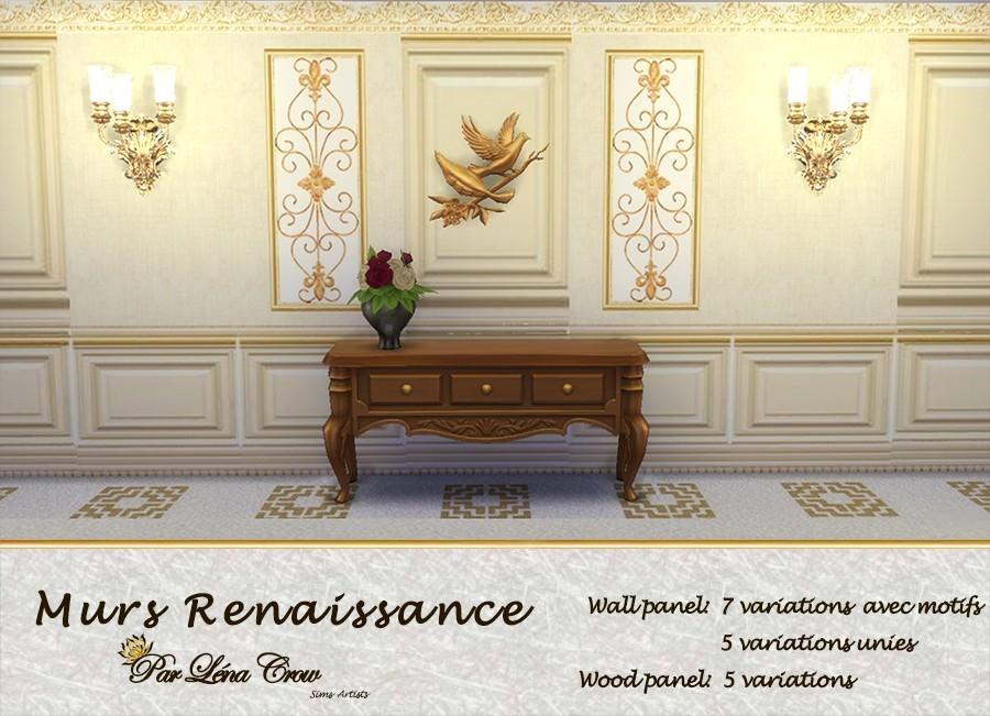Murs Renaissance pr�sentation