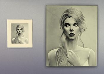 Portrait f�minin en noir & blanc