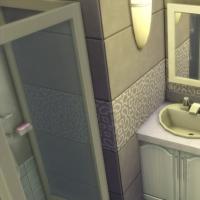 Mas Provencal Sims 4  Salle d'eau de la suite parentale